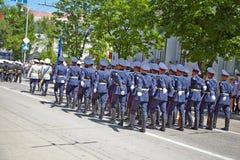 SEWASTOPOL, UKRAINE -- AM 9. MAI: Victory Parade. lizenzfreie stockfotos