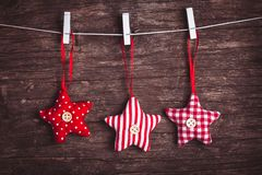 Sewed christmas decor Royalty Free Stock Photography