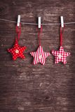 Sewed christmas decor Stock Images