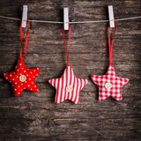 Sewed christmas decor Stock Photo