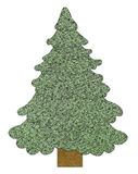 Sewed Christmas tree Royalty Free Stock Photo