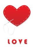 Sewed heart Stock Photo