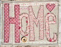 Sewed home text Stock Image