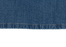 Sewed jeans Stock Photography
