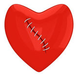 Sewed red heart Royalty Free Stock Photo