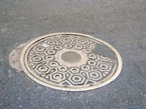 Sewer. An iron sewer in the city street Royalty Free Stock Image