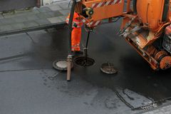 Sewer cleaning Royalty Free Stock Photo