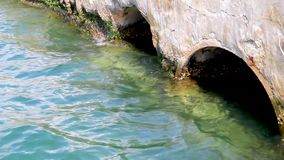 Sewer constructions ending in the sea