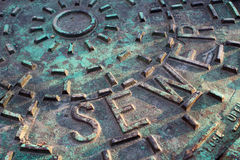 Sewer Cover Closeup Stock Image