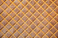 Sewer cover. Grunge wallpaper textured background.  Royalty Free Stock Photo