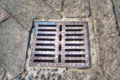 Sewer cover in hdr Stock Images