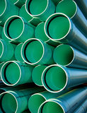 Sewer Drain PVC Pipes on Housing Construction Site Stock Photography
