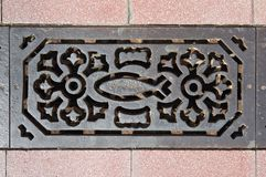Sewer grate Stock Photo