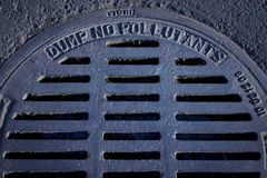 Sewer grate Royalty Free Stock Photography