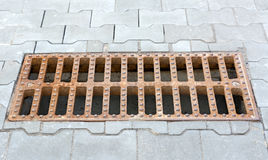 Sewer grate. Royalty Free Stock Image