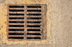 Sewer grill Stock Images