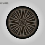 Sewer hatch with lid. open manhole. vector illustration isolated on white background eps10. Sewer hatch with lid. open manhole. vector illustration isolated on royalty free illustration