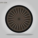Sewer hatch Open. Manhole cover. Well hatch. Vector illustration. Eps10 vector illustration