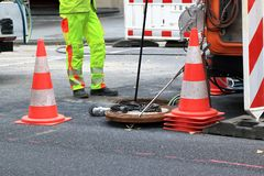 Free Sewer Inspection And Cleaning Stock Photo - 137435700