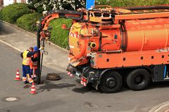 Free Sewer Inspection And Cleaning Royalty Free Stock Photos - 137435748