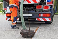 Free Sewer Inspection And Cleaning Royalty Free Stock Photos - 137436038