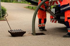 Free Sewer Inspection And Cleaning Stock Image - 137436121