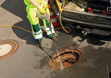 Free Sewer Inspection And Cleaning Stock Photo - 137436250
