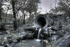 Sewer. In khabarovsk russia long exposure royalty free stock photo