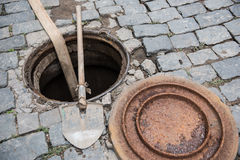 Sewer Line Maintenance Stock Photography