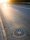 Sewer manhole Stock Image