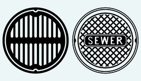 Sewer manhole Royalty Free Stock Photos