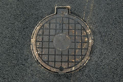 Sewer manhole Cover Stock Image