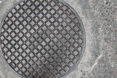 Sewer Manhole Cover Royalty Free Stock Photos