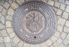 Sewer manhole in Wrocław Stock Photography