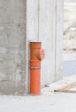 Sewer pipe in concrete structure Stock Photo