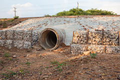 The sewer pipe Stock Images