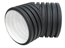 Sewer pipe elbow Stock Photos