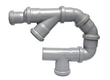 Sewer pipes Royalty Free Stock Images