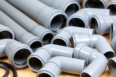 Sewer pipes background Stock Images