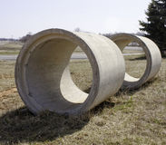 Sewer pipes in Field Stock Photography