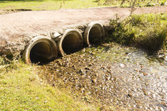 Sewer pipes at outdoors Stock Photos