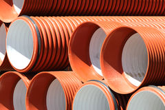 Sewer pipes Stock Images