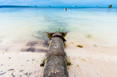 Sewer in sea Royalty Free Stock Images