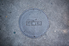 Sewer sidewalk cover Stock Images