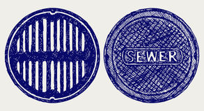 Sewer sketch Royalty Free Stock Image