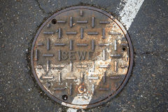 Sewer on the street Stock Images