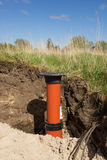 Sewer wells pipe Stock Photography