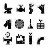 Sewerage icons set Stock Image