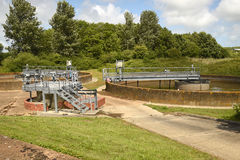 Sewerage treatment works Stock Photography