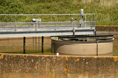 Sewerage treatment works Royalty Free Stock Image